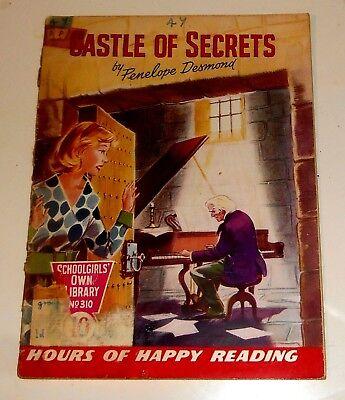 #310 Schoolgirl's Own Library Comics ~ CASTLE OF SECRETS ~ 1959