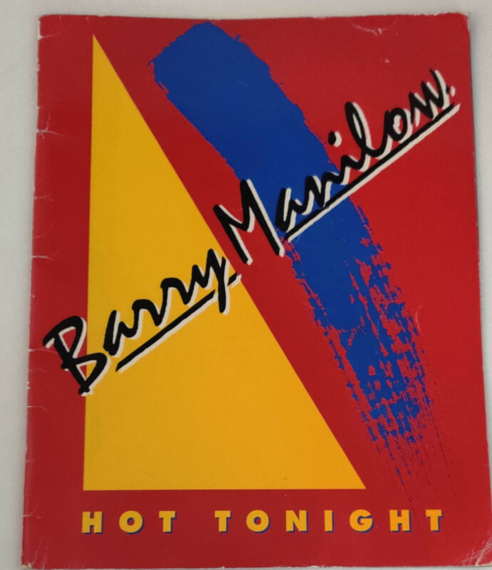 BARRY MANILOW 1983 HOT TONIGHT Tour Program Tour Book