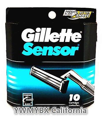Gillette Sensor 10 Cartridegs For Men, Brand New, Free Shipping. #014B