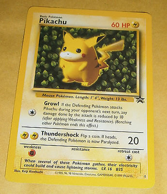 POKEMON BLACK STAR PROMO CARD - #1 PIKACHU NM