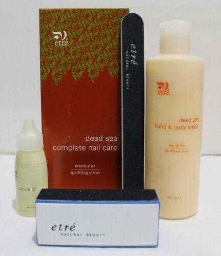 ETRE Dead Sea Minerals Complete Nail Care - Lotion, Cuticle Oil & Buffer Set NIB