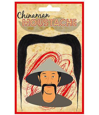 Chinaman Moustache -  Fu Manchu Chinese Mandarin Dressup Oriental Tash - Fu Manchu Mustache Costume