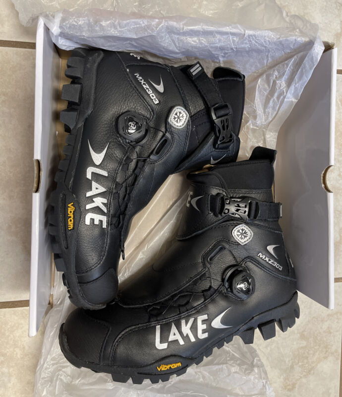 Lake MXZ303 Winter Mountain Bike Shoes Size 8 US, 42 EU Black 🌟NEW IN BOX🌟