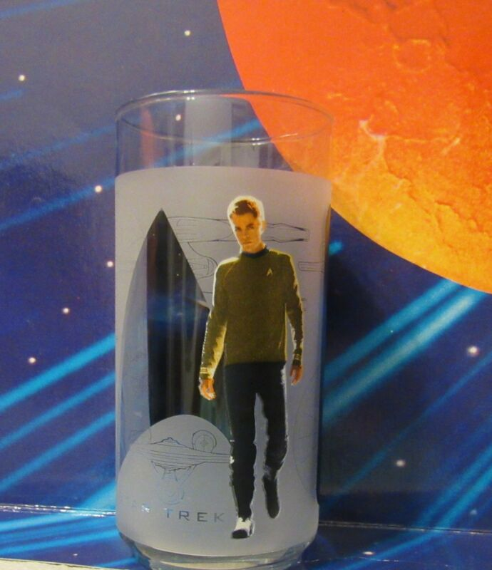 Star Trek Kirk Collectible Glass 2008 new in box Burger King Glass Collection