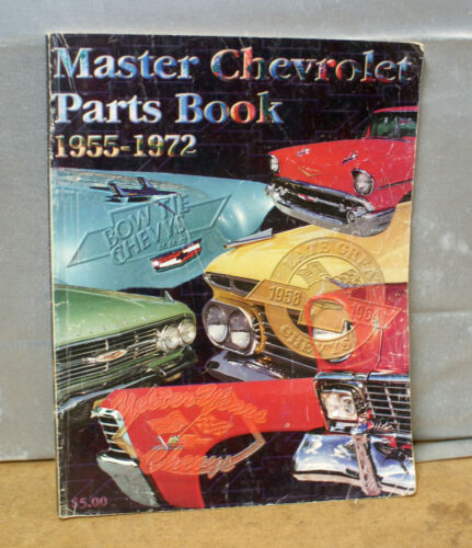 1955 to 1972 MASTER CHEVROLET PARTS BOOK jt CATALOG