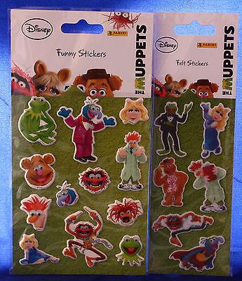 "**Die Muppets**1 Bogen ""Filz-Sticker""**1 Bogen ""Funny-Sticker""**Panini"