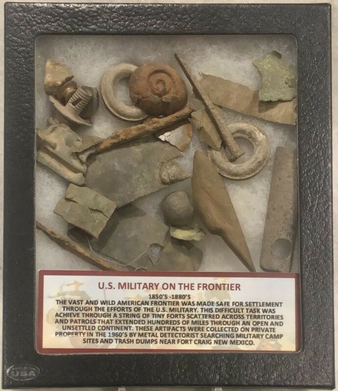 US MILITARY ON THE AMERICAN FRONTIER 1850-1880 DUG ARTIFACTS FOUND FORT CRAIG NM