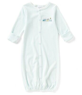 STARTING OUT Baby Boys Stripe Train Embroidered Snap Front Gown, 0-6 Months, NWT (Baby Boys Embroidered Robe)