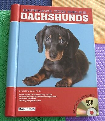 dog breed hardback book DACHSHUND dachshunds history/care/etc plus TRAINING DVD, used for sale  Salt Lake City