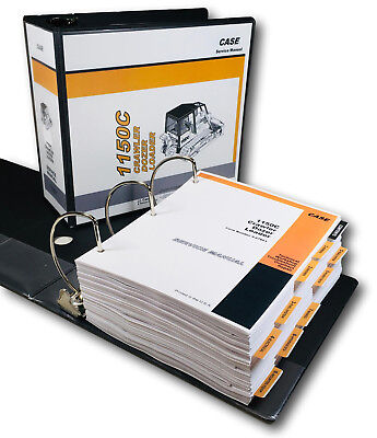 Case 1150c Crawler Loader Bull Dozer Service Technical Manual Repair Shop Binder
