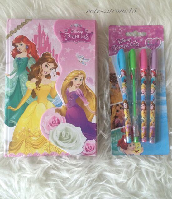 Tagebuch Disney Princess Buch Gel Stift Tasche Magnet Geschenk Geburtstag Kinder