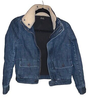 A.P.C Women Denim Jacket / Coat - Size S / Small - 36-