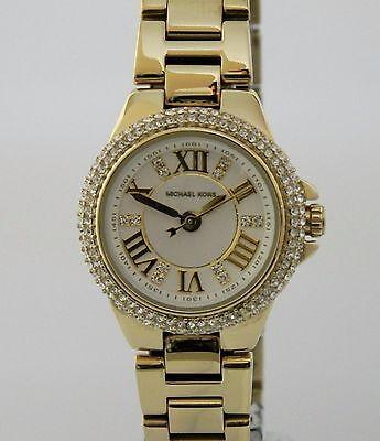 Michael Kors MK3252 Camille Gold Tone White Dial Petite Ladies Watch