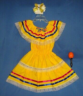 Mexican dress girls-2-4-Cinco de Mayo fiesta costume-peasant-hair - Cinco De Mayo Girl Kostüme