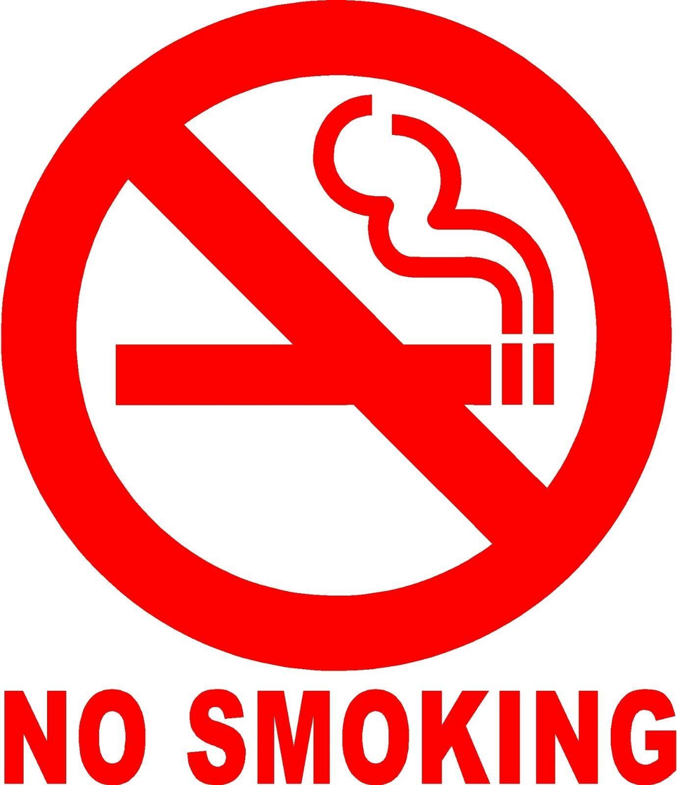 Home Decoration - NO SMOKING Circle Sign Vinyl Decal Sticker