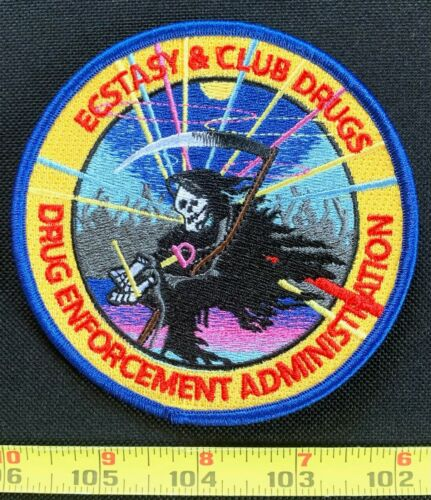 Ecstasy & Club Drugs DEA Embroidered Iron On Patch