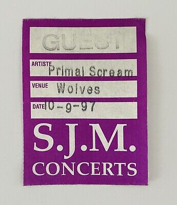 Primal Scream - Backstage Pass 10 September 1997 - Wolverhampton, usado segunda mano  Embacar hacia Mexico