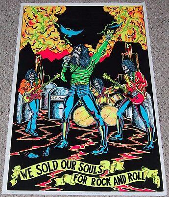 BLACK SABBATH Ozzy Iommi We Sold Our Souls In Concert Flocked Blacklight Poster