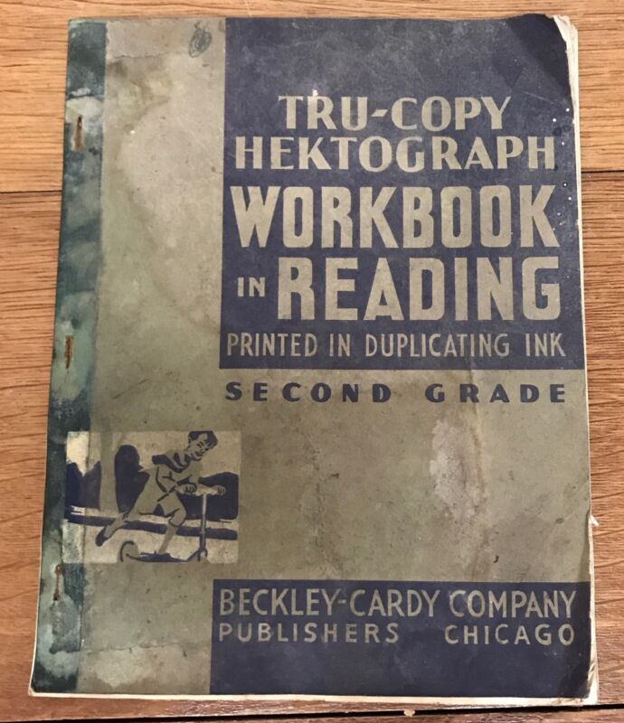 Vintage Hectograph Duplicating Reading Workbook Canfield One Room School 1935
