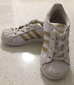 Kids size US 9k Ortholite Adidas Superstars Beechboro Swan Area Preview