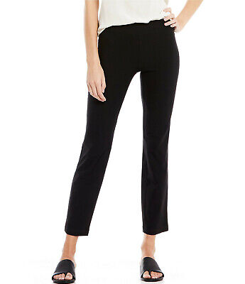 Eileen Fisher Washable Stretch Crepe Slim Ankle Pants in Black, Size M Black Stretch Crepe