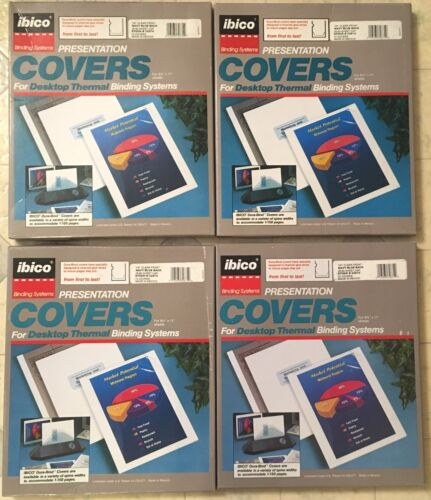 Thermal Binding Covers, 4 Boxes = 40 Covers Total, FREE Shipping!