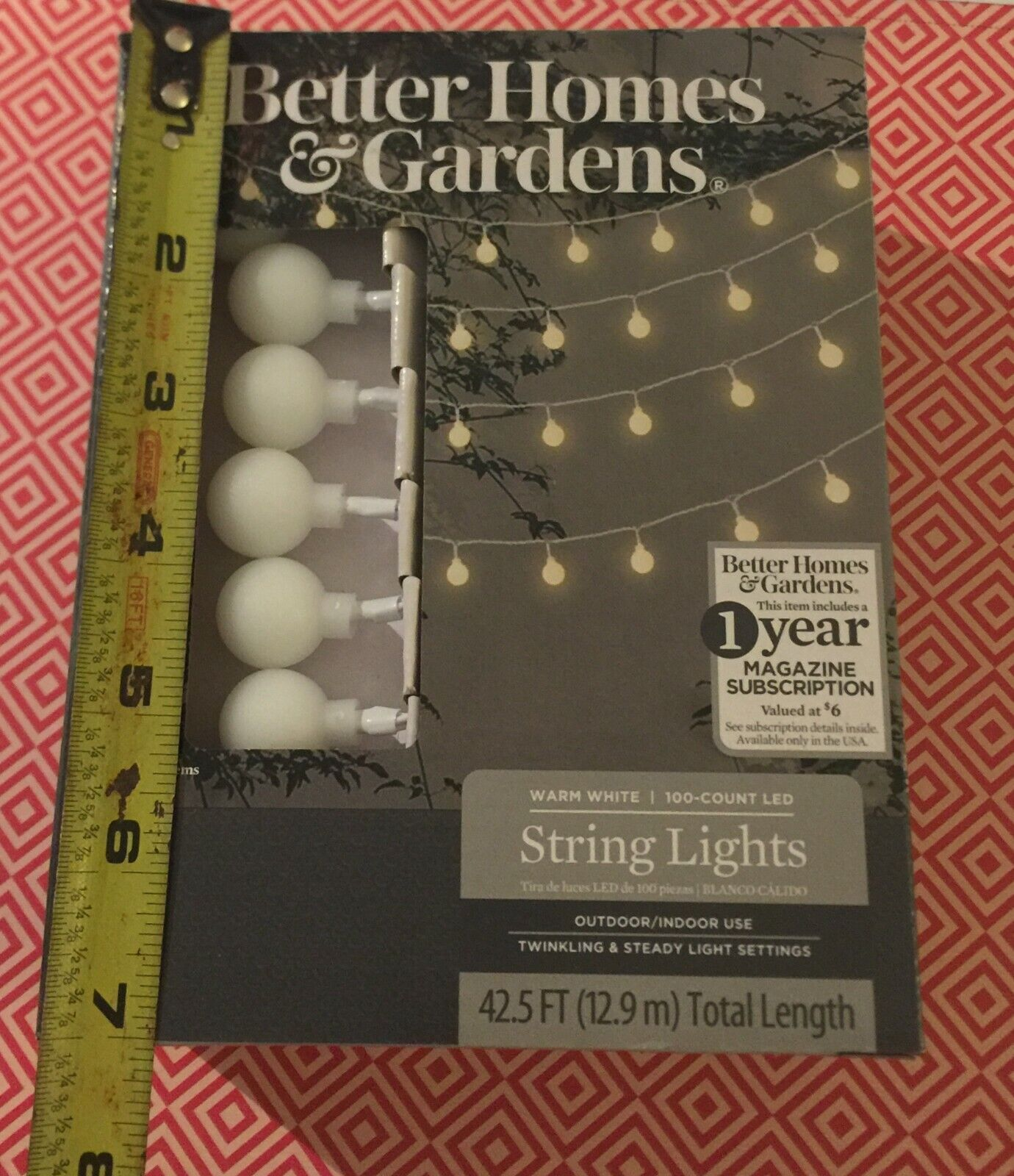 Better Homes Gardens 100 Count Led Indoor/outdoor String Lights Warm White  - $24.99