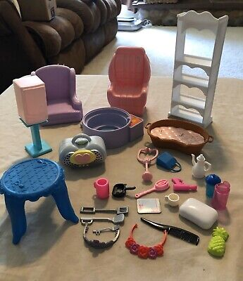 Barbie Furniture And Accessories Doll Lot