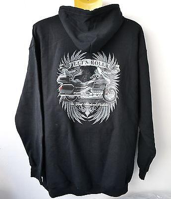 Kapuzen Plus Size T-shirt (Goldwing,GL 1800,Hoody,Kapuzenjacke,4XL,5XL,Übergröße,Plus Size,Biker)