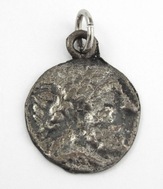 ANTIQUE GRECO-ROMAN COIN CHARM / PENDANT - Reproduction