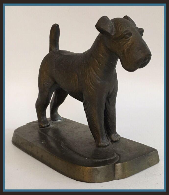 "Vintage Metal Irish Wolfhound Dog Doorstop - 7"" x 5.5"""