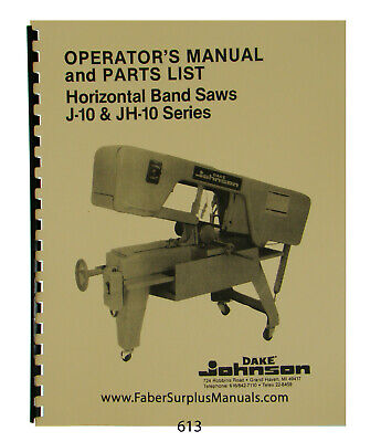 Manuals, Books & Plans - Metal Cutting Bandsaw