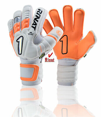 Rinat goalkeeper Uno Premer spine gloves (Orange size,10)5 finger save (Goalkeeper Glove Sizing)