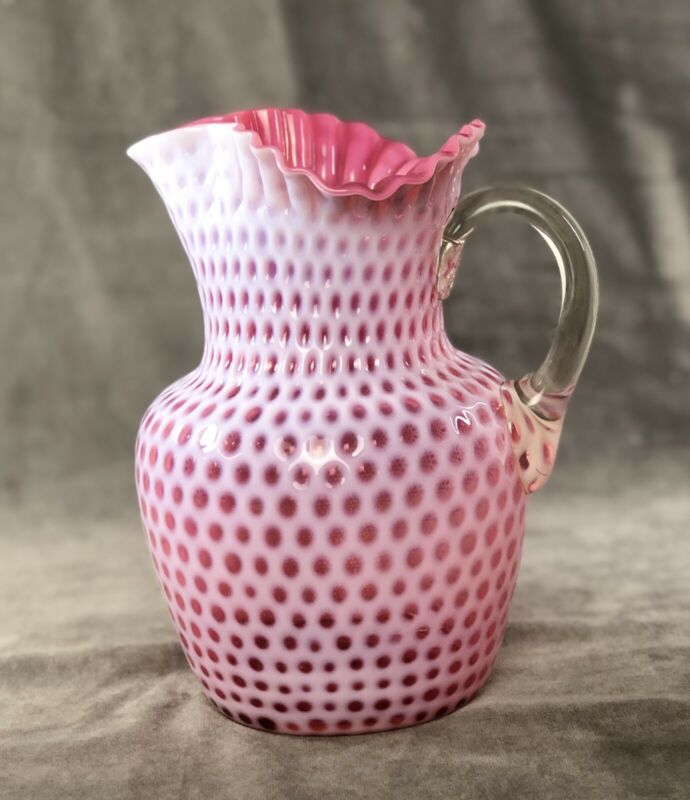 Hobbs Cranberry Opalescent Windows Water Pitcher