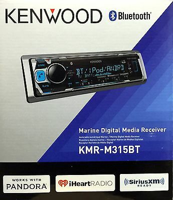 NEW Kenwood KMR-M315BT Single DIN Marine Digital Media Car Stereo w/ Bluetooth