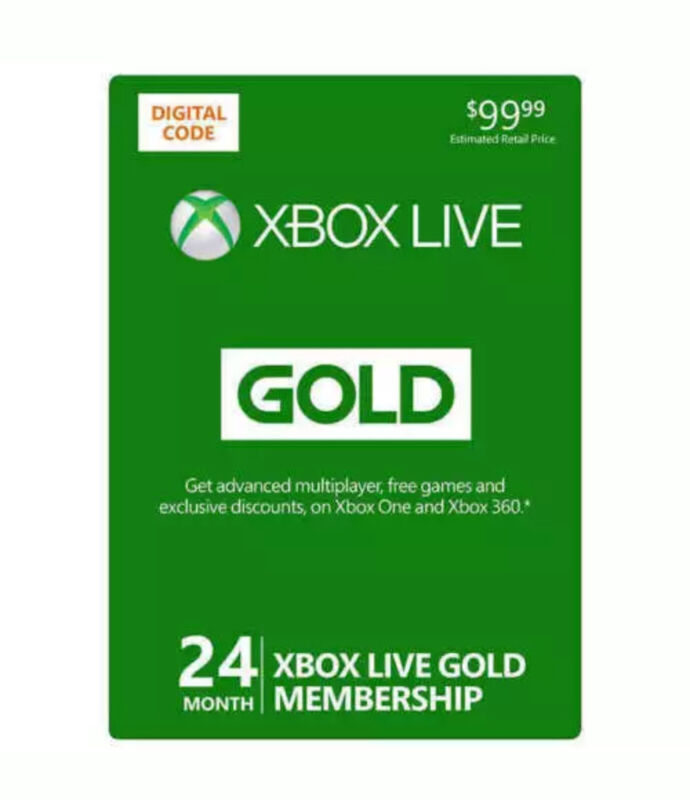 Xbox Live Gold 24 Month - Instant Delivery