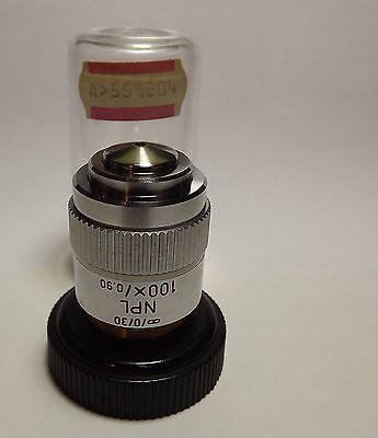Leitz Npl 100x0.90 Microscope Objective Lens 030 Strain Free