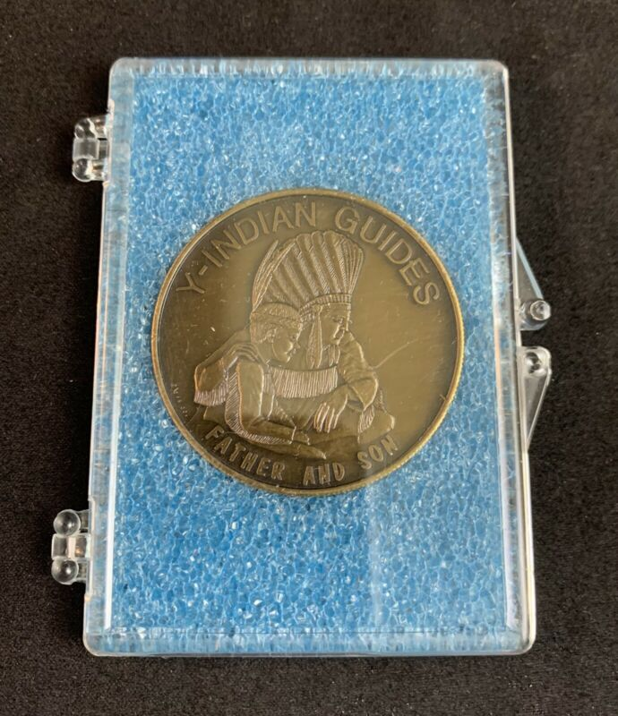 Vintage 1979 Y-Indian Guides Father & Son Pals Forever Medallion YMCA