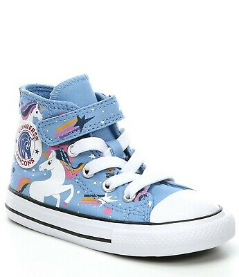 Toddler High Top Converse (Converse All Star Chuck Taylor Kid's Toddler Unicorn Adjustable Hi Top Shoes)