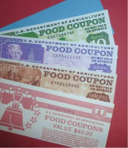 Novelty Food Stamp Book (Reprint)  delayed shipping!