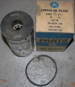 NOS-Chryco-58-Buick-V8-Oil-Filter-1518502-X-over-CH106PL-P124-L836