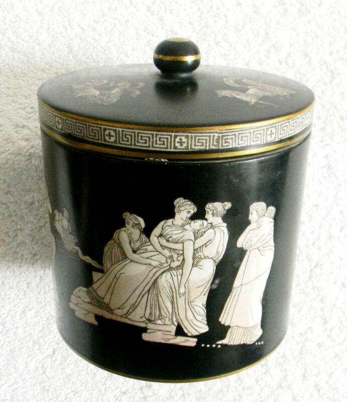 Pratt  jar with lid with Greek decoration (early 1800s)