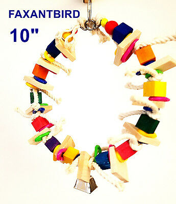 Solo Ring Parrot Bird Toy Parrot Cage Toys amazon cockatoo quaker mini macaw