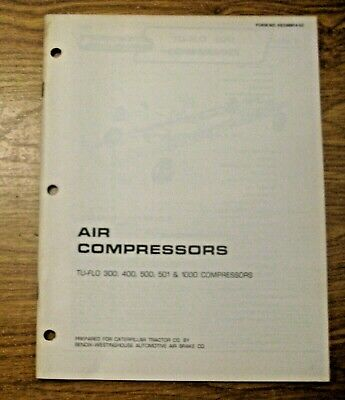 Vintage 1974 Caterpillar Air Compressors Manual Construction Mining Road Work