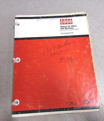 Case 26 26b 26s Backhoes Parts Catalog Manual 1975 G1109
