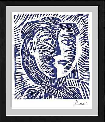 "Pablo Picasso Original Ltd Ed Print ""Woman in Hat"" Hand Signed w/COA (unframed)"