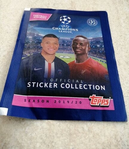 Topps Sticker Collection 10 X Sealed Packs - Uefa Champions League 2019/20