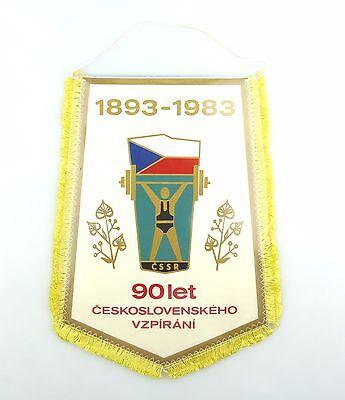 #e6235 Wimpel 1893-1993 90let ceskoslovenskeho vzpirani UdSSR Gewichteheben