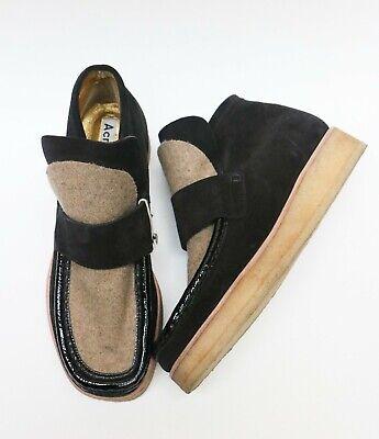 Acne studios - Kingston felt - paneled suede ankle boots NEW (OP/ $518]