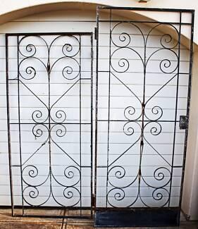VINTAGE WROUGHT IRON DOORS